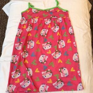 Sanrio HELLO KITTY nightgown pink/ hearts cute!